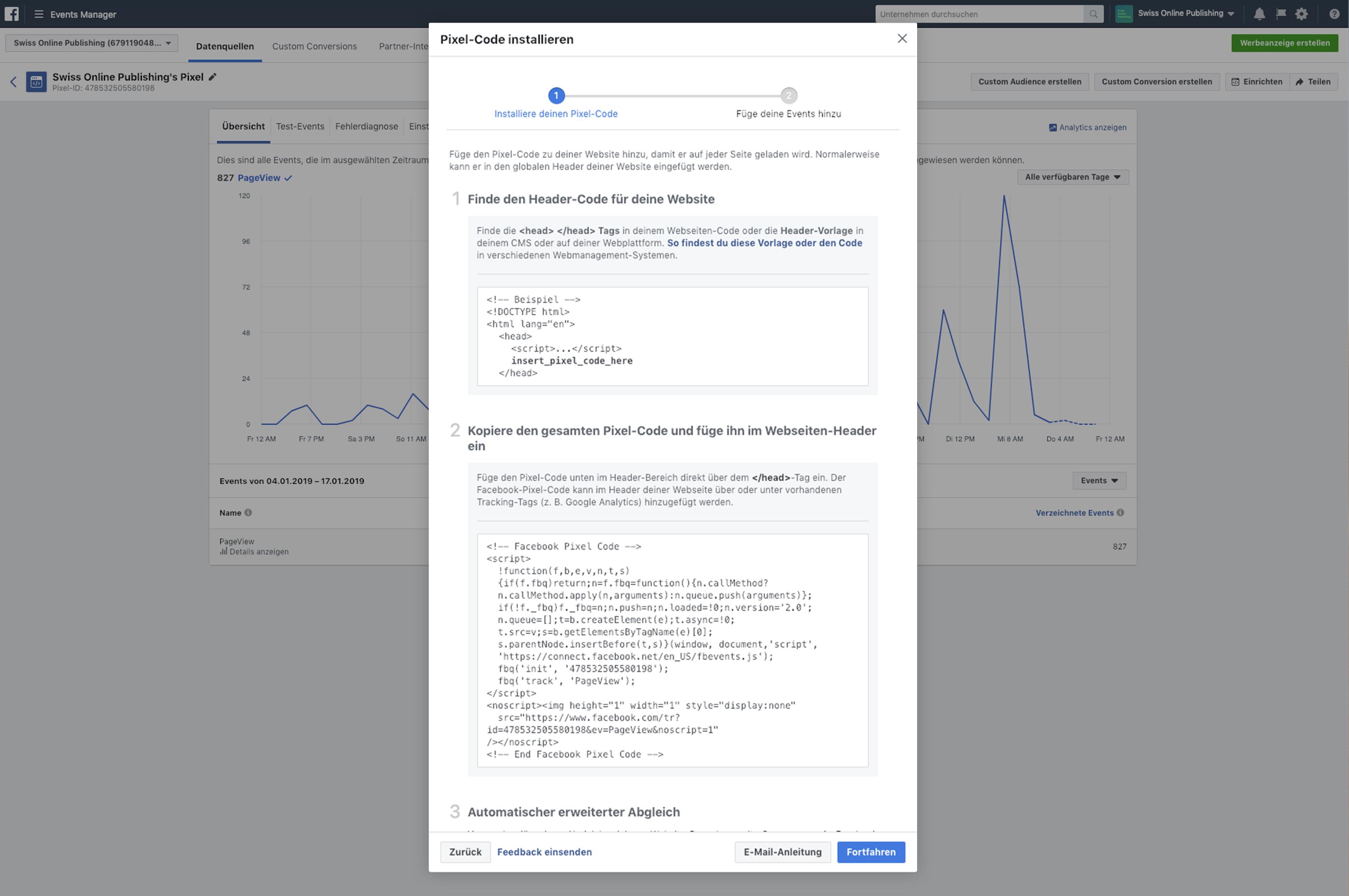 Wir unterstützen Sie bei der Implementation des Facebook Pixels
